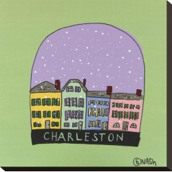 Stretched Canvas Print: Charleston Snow Globe by Brian Nash: 16x16in found on Bargain Bro India from Art.com for $58.00