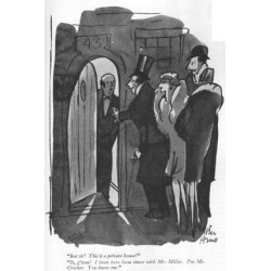 """Premium Giclee Print: """"But sir! This is a private house!""""-""""O, g'wan! I been here lotsa times wit…"""" - New Yorker Cartoon by Peter Arno: 12x9in"""