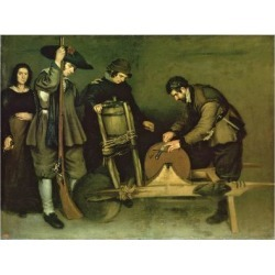 Giclee Print: The Knife Grinder, 1635-40 by Antonio Puga: 24x18in