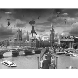 Giclee Print: Blown Away BW by Thomas Barbey: 24x18in found on Bargain Bro from Art.com for USD $19.00