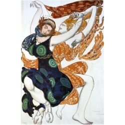 Giclee Print: Two Bacchantes, Costume Design for a Ballets Russes Production of Tcherepnin's Narcisse, 1911 by Leon Bakst: 24x16in found on Bargain Bro India from Art.com for $30.00