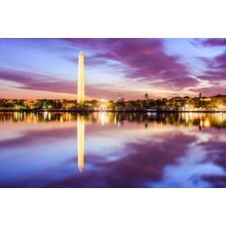 Photographic Print: Washington DC at the Tidal Basin and Washington Monument. by SeanPavonePhoto: 24x16in