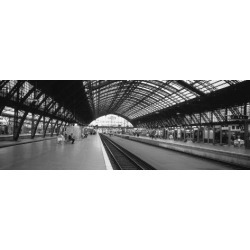 Photographic Print: Train Station, Cologne, Germany Poster: 42x14in