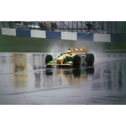 Photographic Print: Benetton B193A Ricardo Patrese 1993 Euro GP at Donington: 12x8in found on Bargain Bro Philippines from Art.com for $18.00