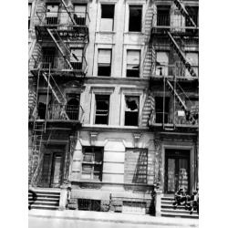 Photo: Burned Out Apartment Building in Harlem, New York City, 1946: 24x18in