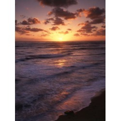 Photographic Print: California, San Diego, Sunset Cliffs, Waves Crashing on a Beach by Christopher Talbot Frank: 24x18in