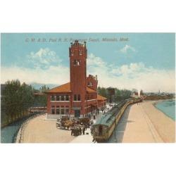 Art Print: Train Station, Missoula, Montana Poster: 24x18in