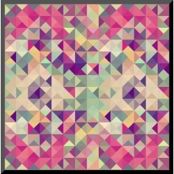 Mounted Print: Pink Geometric Pattern by cienpies: 10x10in