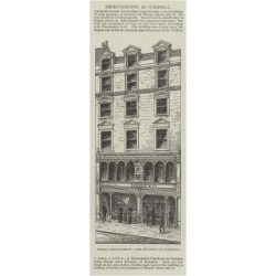 Giclee Print: Street Improvement, New Building in Cornhill: 42x14in