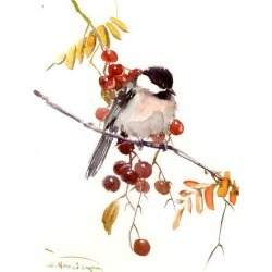Giclee Print: Chickadee by Suren Nersisyan: 16x12in found on Bargain Bro India from Art.com for $30.00