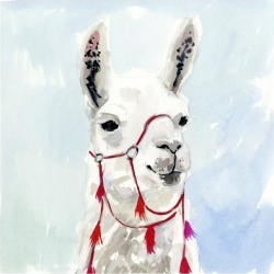 Art Print: Watercolor Llama I by Victoria Borges: 12x12in found on Bargain Bro Philippines from Art.com for $15.00