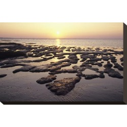 Stretched Canvas Print: Sunset over the tideland, Sylt, Schleswig-Holstein, Germany: 10x15in found on Bargain Bro Philippines from Art.com for $60.00