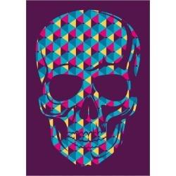 Art Print: Conceptual Human Skull. Vector Illustration. by Radoman Durkovic: 24x18in
