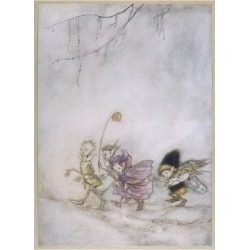 Giclee Print: Four Elves by Arthur Rackham: 24x18in found on Bargain Bro Philippines from Art.com for $30.00