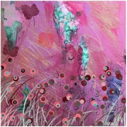 Premium Giclee Print: Pink and Blue by Claire Westwood: 36x48in
