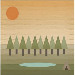 Giclee Print: Camping Out by Tammy Kushnir: 24x24in found on Bargain Bro from Art.com for USD $19.00