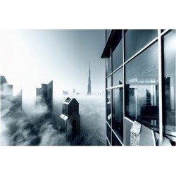 Premium Giclee Print: Foggy City: 9x12in found on Bargain Bro India from Art.com for $30.00
