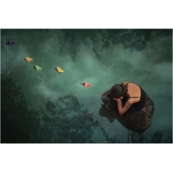 Premium Giclee Print: Paper Boat: 12x16in found on Bargain Bro India from Art.com for $30.00