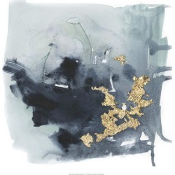 Art Print: Cerulean & Gold I by Victoria Borges: 20x20in found on Bargain Bro Philippines from Art.com for $20.00