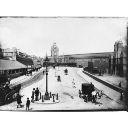 Photographic Print: Street Scene in Bristol, Including Train Station in the Background: 24x18in