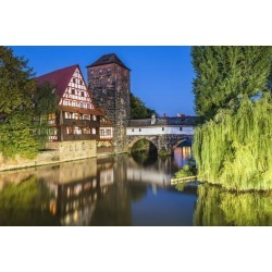 Photographic Print: Nuremberg, Germany Cityscape Panorama. by SeanPavonePhoto: 24x16in