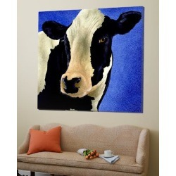 Loft Art: Blue Moo Moo by Will Bullas: 54x54in found on Bargain Bro from Art.com for USD $334.40