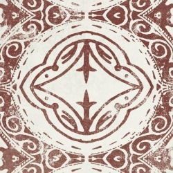 Stretched Canvas Print: Farmhouse - Tangier Rouge by Belle Poesia: 20x20in found on Bargain Bro from Art.com for USD $98.80