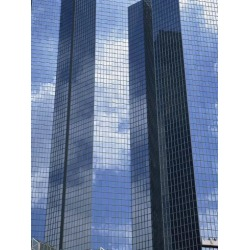 Photographic Print: Glass Exterior of a Modern Office Building, La Defense, Paris, France, Europe by Rainford Roy: 24x18in