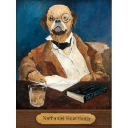Art Print: Nathaniel Howlthorn With Plaque by Wild Apple Portfolio: 32x24in