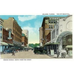Art Print: Orlando, Florida - Orange Avenue North from Pine Street by Lantern Press: 24x18in