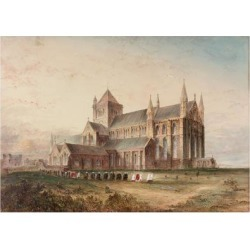 Giclee Print: Tynemouth Priory, Exterior, Conjectural Restoration (Bodycolour, Pencil and W/C on Paper) by John Storey: 24x18in