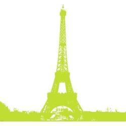 Art Print: Lime Eiffel Tower by Veruca Salt: 34x34in