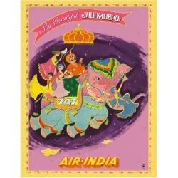 Giclee Print: My Beautiful Jumbo - Boeing 747 Jumbo Jet - Air India by Pacifica Island Art: 14x11in