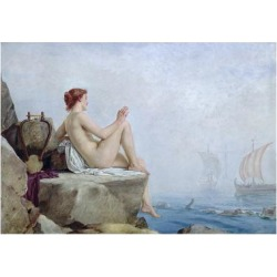 Giclee Print: The Siren, 1888 by Edward Armitage: 24x16in found on Bargain Bro India from Art.com for $30.00