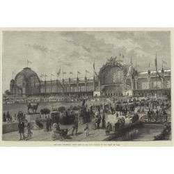 Giclee Print: The Paris Exhibition, Front View of the Main Building in the Champ De Mars: 24x16in