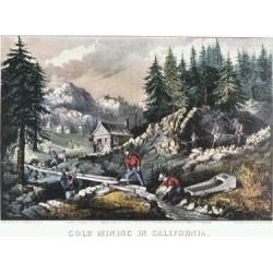 Giclee Print: Gold Mining in California, 1849 by Currier & Ives: 24x18in