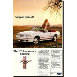 Stretched Canvas Print: 1984 Ford Mustang GT 20Th: 37x24in found on Bargain Bro India from Art.com for $160.00