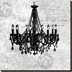 Stretched Canvas Print: Grey Baroque Chandelier by Lebens Art: 24x24in found on Bargain Bro from Art.com for USD $59.28