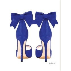 Stretched Canvas Print: Navy Bow Shoes by Amanda Greenwood: 40x30in found on Bargain Bro India from Art.com for $118.00