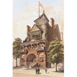 Art Print: Victorian House, No. 4: 12x9in