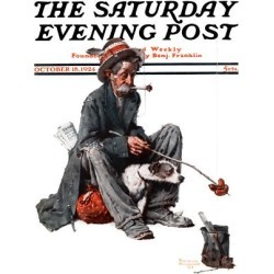 Giclee Print: Homeless People Art Print by Norman Rockwell by Norman Rockwell: 24x18in
