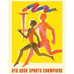 Giclee Print: GTO USSR Sports Champions - Russian Physical Culture by Pacifica Island Art: 20x16in found on Bargain Bro India from Art.com for $30.00