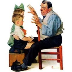 Giclee Print: Magicians Art Print by Norman Rockwell by Norman Rockwell: 16x12in