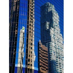 Photographic Print: Skyscraper Reflections in Downtown, Los Angeles, United States of America by Richard Cummins: 24x18in