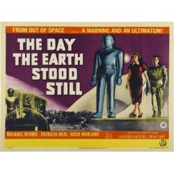 Art Print: The Day The Earth Stood Still, UK Movie Poster, 1951: 24x18in found on Bargain Bro Philippines from Art.com for $20.00