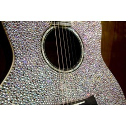 Photographic Print: USA, Tennessee, Nashville. Taylor Swift's bejeweled rhinestone guitar. by Cindy Miller Hopkins: 24x16in found on Bargain Bro India from Art.com for $22.00