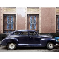 Photo: Vintage Car Parked Next to the Bacardi Rum Building in Havana, Cuba by Carol Highsmith: 24x18in