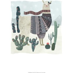 Art Print: Holiday Llama II by Victoria Borges: 19x13in found on Bargain Bro Philippines from Art.com for $15.00
