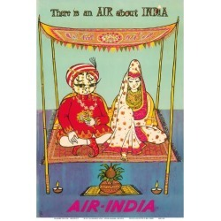 Art Print: There is an AIR about INDIA - Indian Maharaja - Air India by Pacifica Island Art: 19x13in