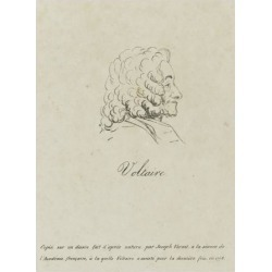 Giclee Print: Voltaire (1694-1778), Represented Old, Profile, 1778 by Claude Joseph Vernet: 24x18in